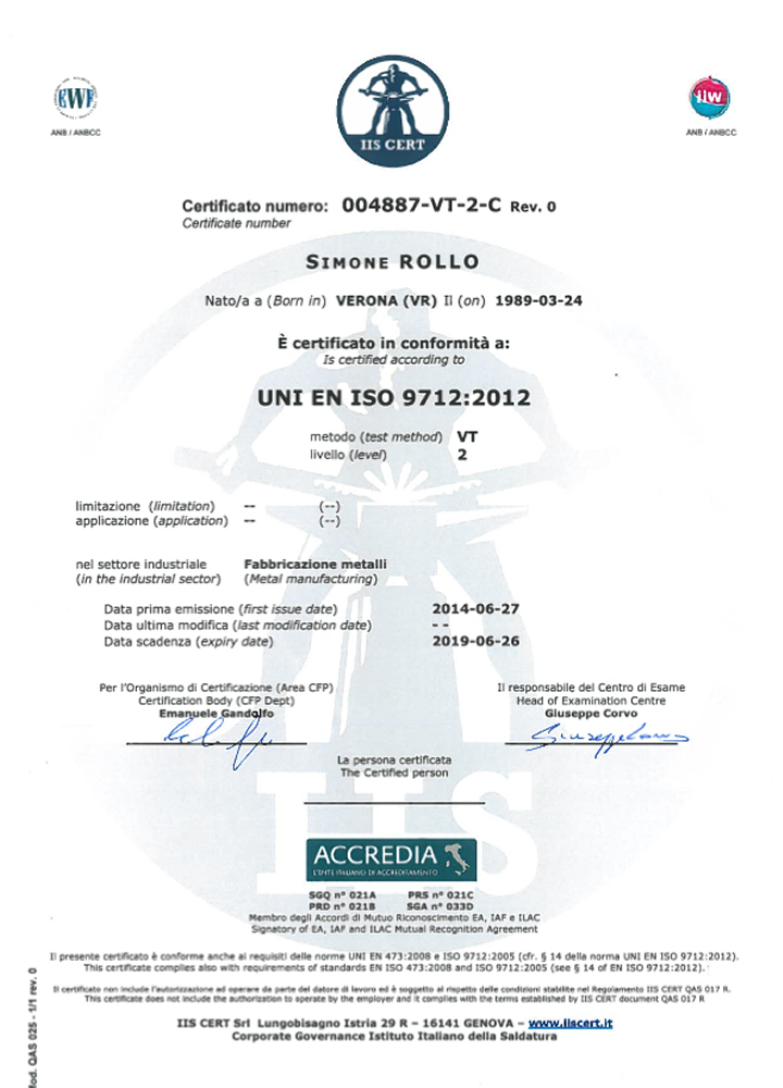 ISO-3834 quality system certification for welding and EN-1090 for ...